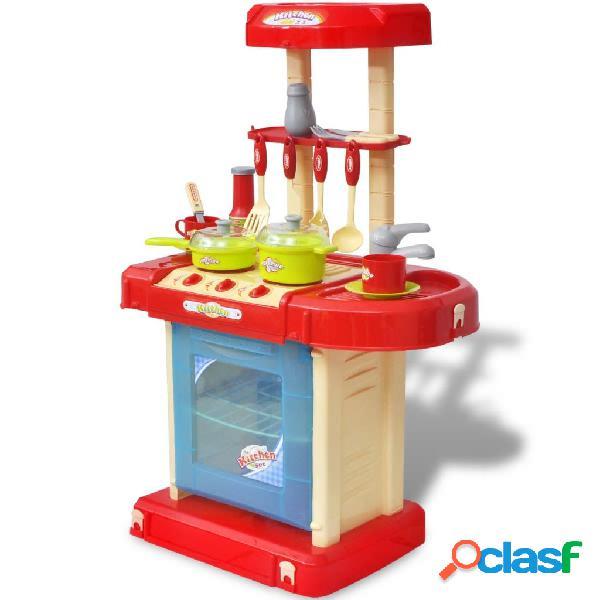 Vidaxl cucina giocattolo per bambini con effetti luce/suoni
