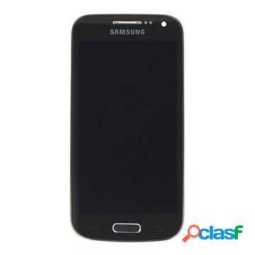 Cover frontale con display lcd per samsung galaxy s4 mini black edition i9195 - nero