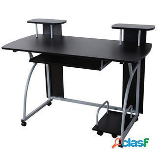 Scrivania per computer ohio pro, 120x59x90cm, legno, nero