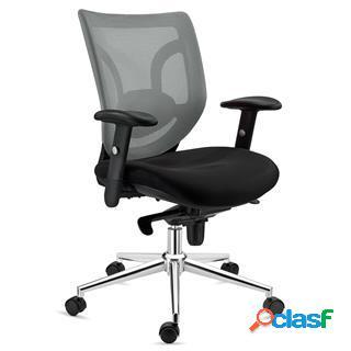 Sedia da ufficio lambo, supporto lombare, in color grigio