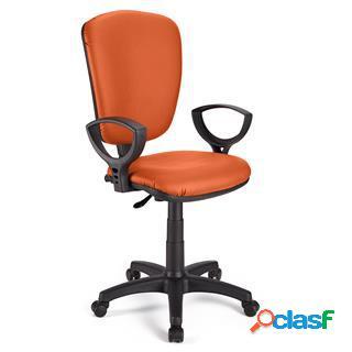 Sedia da ufficio calipso pelle in arancione