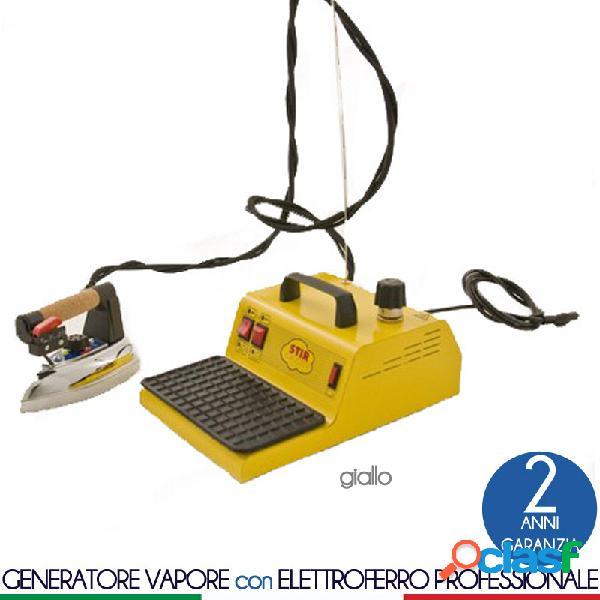 Stirella generatore stir vapor di vapore con caldaia da 1.5 lt dotato di ferro da stiro professionale bieffe giallo