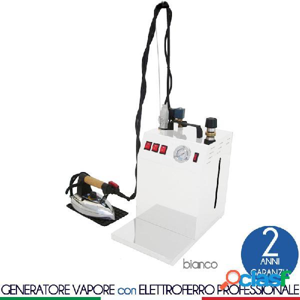 Stirella generatore di vapore con caldaia maxi vapor plus bianco da 5 lt dotato di ferro da stiro professionale bieffe pesante