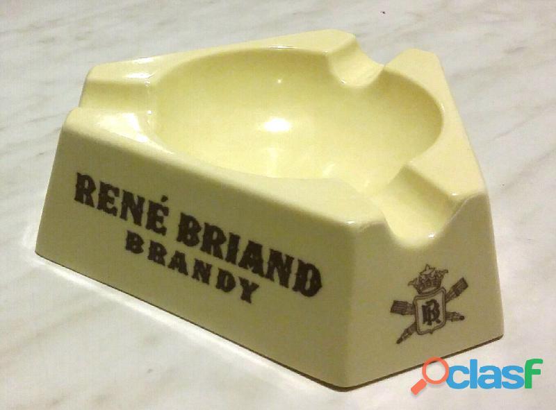 Portacenere posacenere René Briand Brandy oggetto pubblicitario vintage nuovo