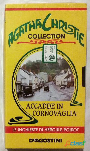 "VHS Agatha Christie Collection ""Accadde in Cornovaglia"" Nuovo con cellophane"