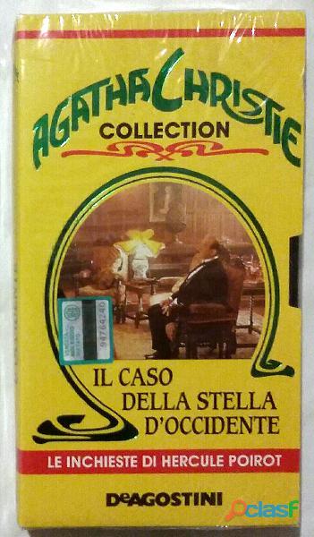 """Vhs agatha christie collection """"il caso della stella d'occidente"""" nuovo cellophane"""