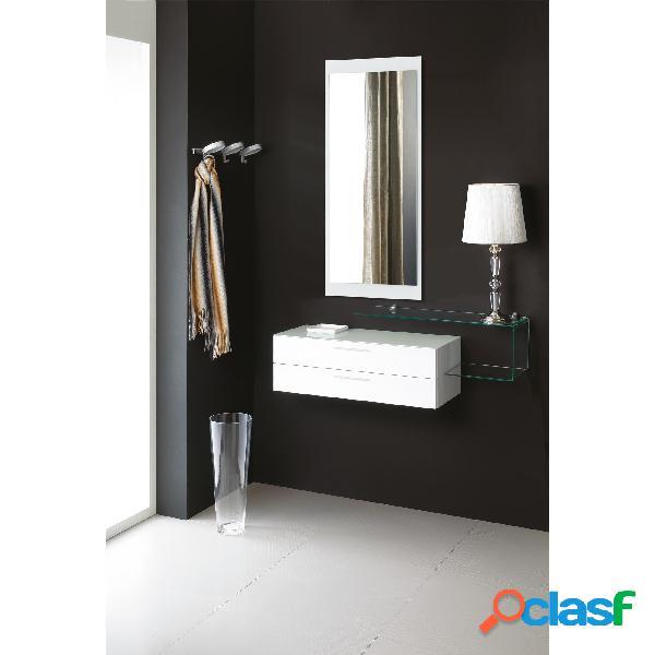 Composizione flexi specchiera, contenitore, mensola flexi system comp-1