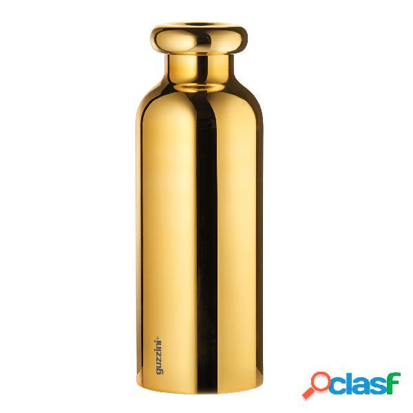Borraccia termica in acciaio contenitore per liquidi 7,3xh21,2 cm 500 cc mantiene 12 ore caldo 24 ore freddocolore oro