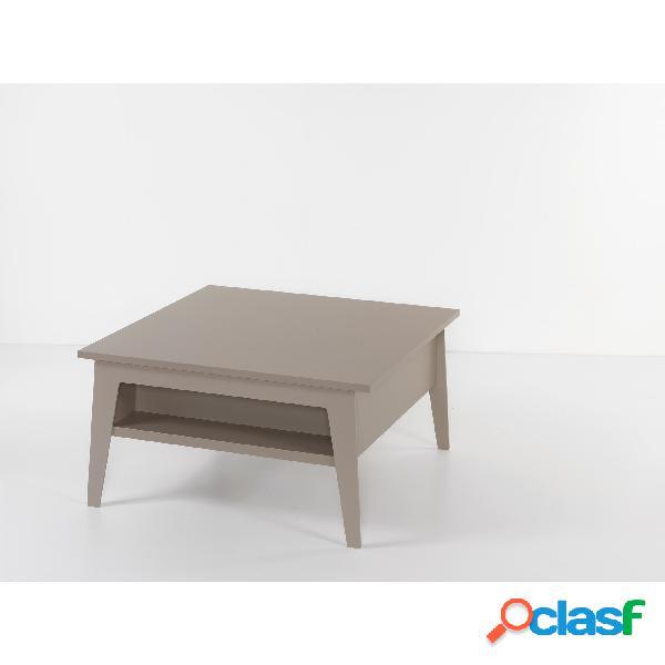 Tavolino quadrato multifunzione con piano alzabile brighton si alza il top di 25 cm e lo sposta in avanti di 35 cm