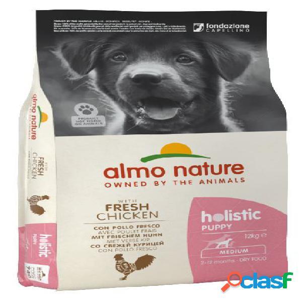 Almo nature cane holistic puppy medium pollo riso kg 12