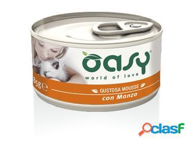 Oasy gatto mousse con manzo gr 85