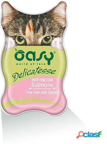 Oasy gatto vaschetta delicatesse pate' con salmone gr 85