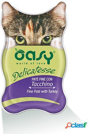 Oasy gatto vaschetta delicatesse pate' con tacchino gr 85