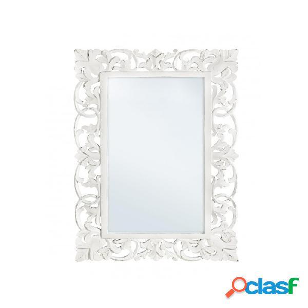 Arredinitaly outlet specchio c-c dalila bianco antico 60x90