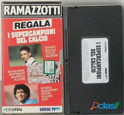 RAMAZZOTTI REGALA I SUPERCAMPIONI DEL CALCIO VHS OTTIMO