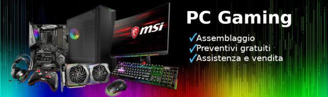 Assemblo pc desktop da gaming o ufficio e altri servizi