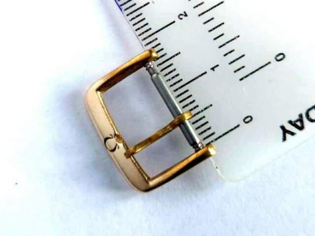 Fibbia orologio omega dorata 16mm