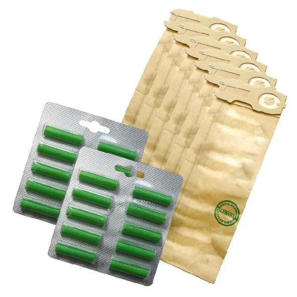 Kit ricambio risparmio 16 sacchetti filtro + 20 profumini