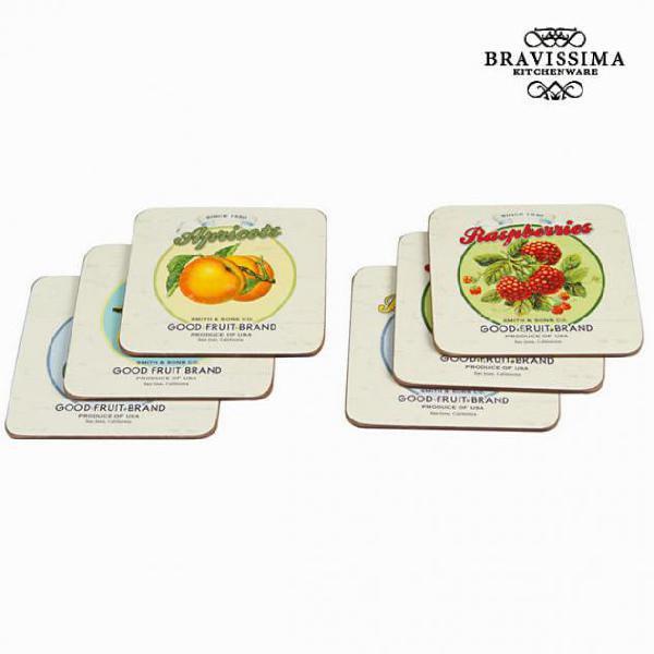 Sottobicchieri set da 6 fruits - kitchens deco collezione by