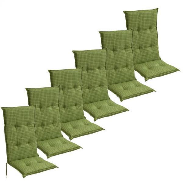 Vidaxl cuscini con schienale per sedie da giardino 6 pezzi