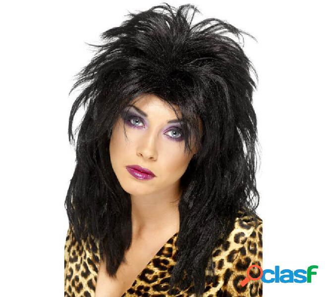 Parrucca pop star black hair per donna