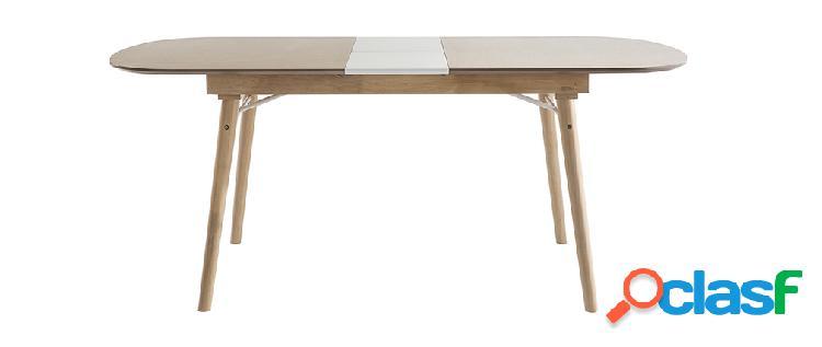 Tavolo da pranzo allungabile in legno chiaro l150-180 cm sheldon