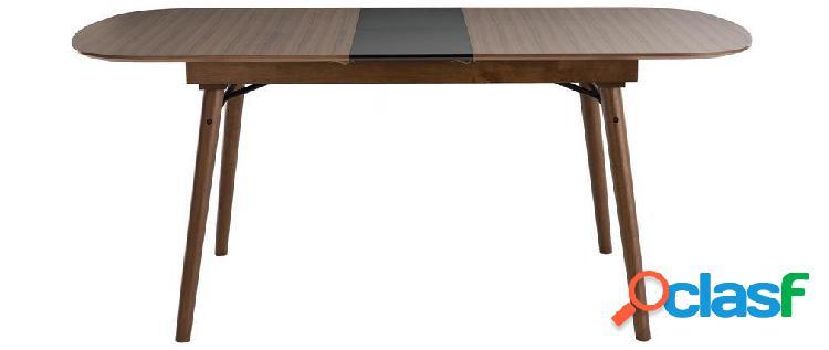 Tavolo da pranzo allungabile in noce l150-180 cm sheldon