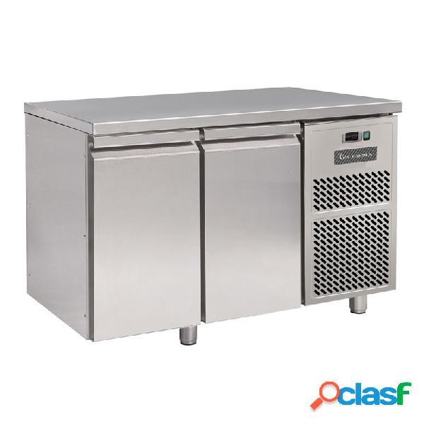 Tavolo frigo - 2 porte - prof. 600 mm - temperatura 0°c/+10°c