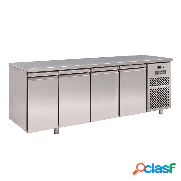 Tavolo frigo 4 porte prof. 700 mm - temperatura 0°c/+10°c