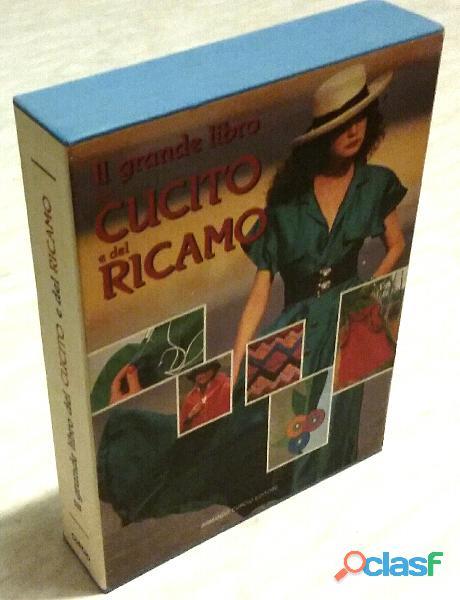 IL GRANDE LIBRO DEL CUCITO E DEL RICAMO + CARTAMODELLI Ed. Armando Curcio, 1987 come nuovo