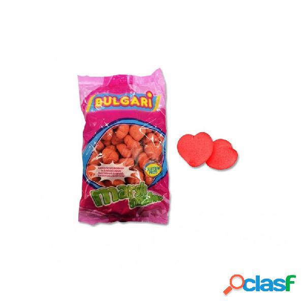 Marshmallow cuori rossi 900 gr bulgari