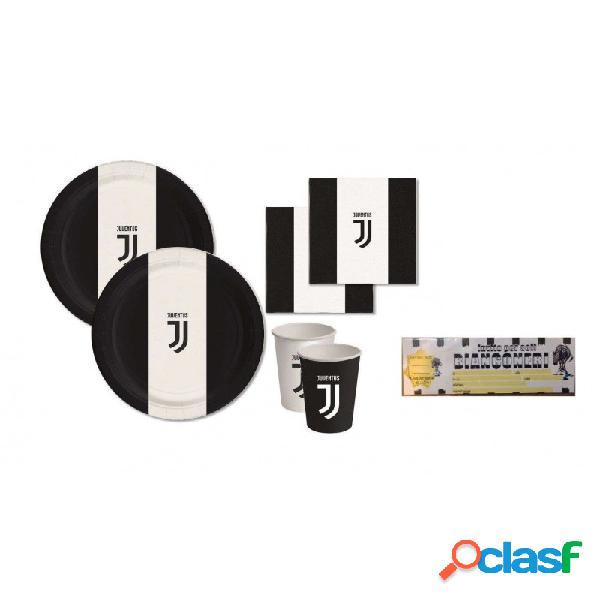 Kit n.23 juventus - set tavola bianco nero