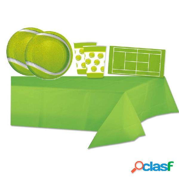 Kit n.16 tennis - accessori tavola per feste