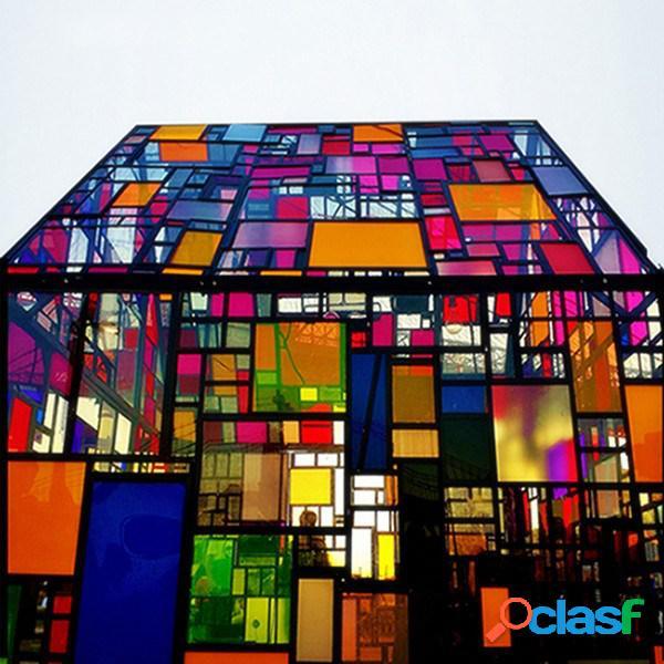 152x66cm pellicola vetro per finestra colorata trasparente a prova di calore prottetiva da luce solare decorazione di finestra