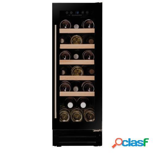 Cantina linea exclusive porta full glass nera e maniglia inox - zoccolo rientr., 19 bottiglie