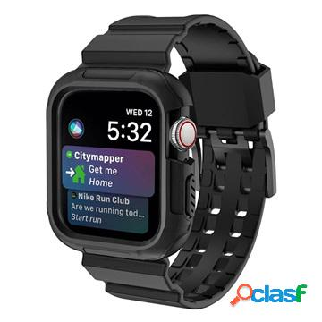 Apple watch series 4 silicone sport band and case - 44mm - black