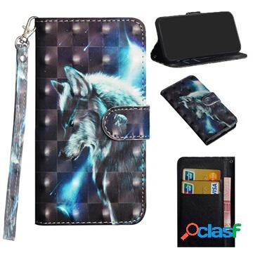 Custodia a portafoglio per iphone 12 mini - serie wonder - lupo