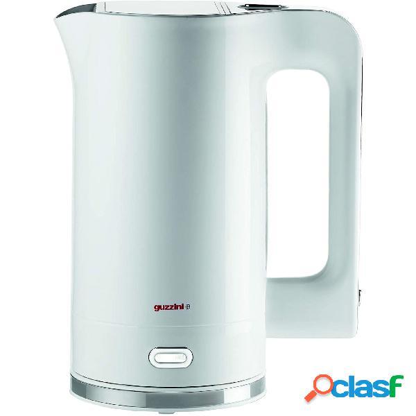 Bollitore elettrico, riscaldamento dell'acqua in 4 minuti 19x14x27 cm - lt 1,7 potenza 2200 watt bianco white