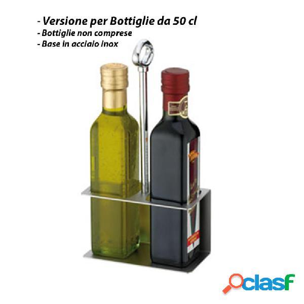 Portabottiglie olio - versione per bottiglie 50 cl.