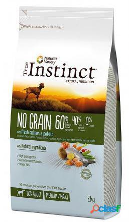 True instinct cane no grain medio adulto salmone fresco e patate 2 kg