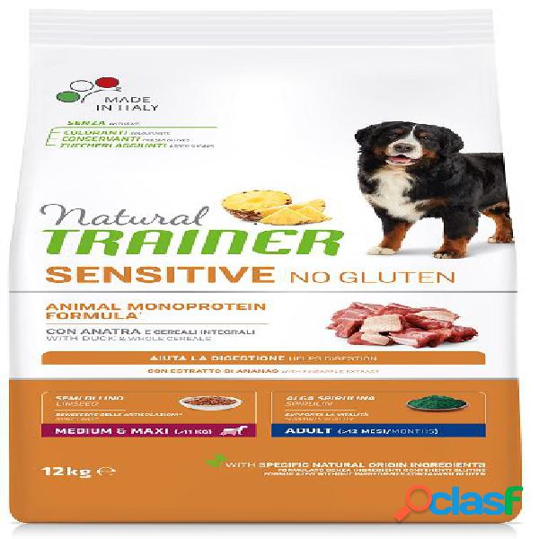 Trainer natural sensitive no gluten puppy & junior medio maxi kg 3...