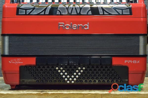 Fisarmonica Roland FR 8X RD V Rosso 1