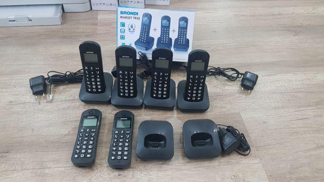 Brondi mariot trio telefono nero identificatore di chiamata