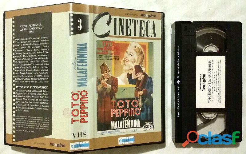 VHS TOTÒ PEPPINO E LA..MALAFEMMINA 1956 VIDEOCASSETTA COME NUOVA