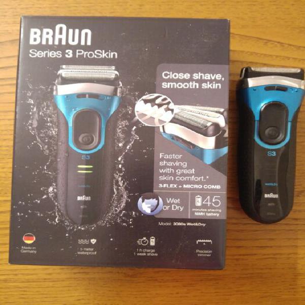 Rasoio elettrico braun series 3 proskin 3080s uomo wet&dry