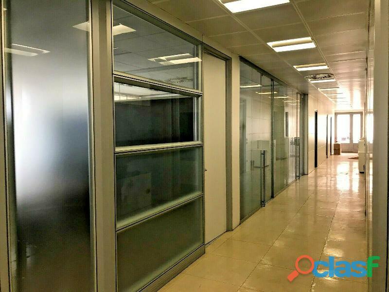 Pareti divisorie da ufficio alluminio vetro + controsoffittature
