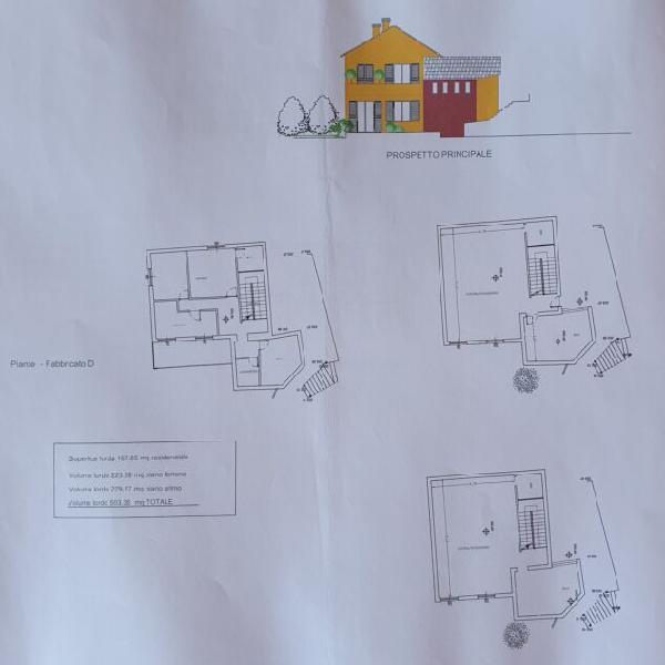 Terreno con progetto approvato per casa indipendente