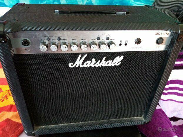 Amplificatore marshall carbon fiber mg 30cfx
