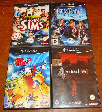 Lotto 3 giochi nintendo gamecube resident evil 4 the sims