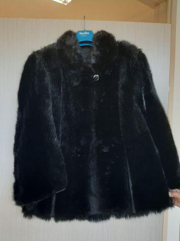 Giaccone di pelliccia nera - capo di sartoria